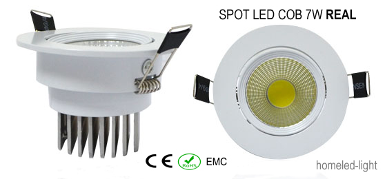 SPOT LED COB 7 W Encastrable et Orientable REAL