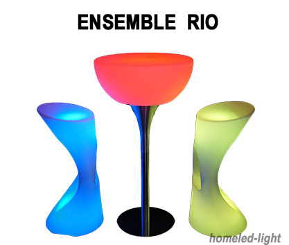 ensemble bar lumineux rio table 2 tabourets mobilier. Black Bedroom Furniture Sets. Home Design Ideas