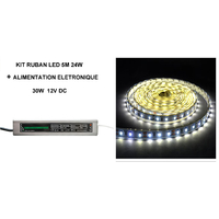 KIT RUBAN LED 5M 6000K 60 LED  et  Alimentation 30 W Homeled-light