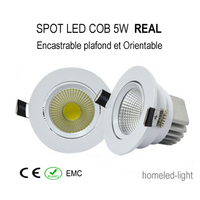 SPOT LED COB 5 WATT Encastrable et Orientable REAL