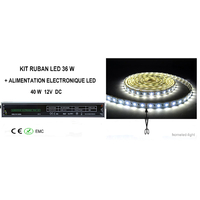 KIT RUBAN LUMINEUX LED 5M 36 W + ALIMENTATION ELECTRONIQUE LED 40 W