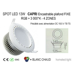 SPOT LED 13 W CAPRI RGB + W Encastrable plafond Fixe 2 homeled-light