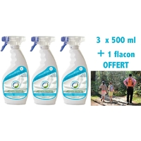 Protection anti Tiques - Pack 3 x 500 ml  + 1 format voyage 100 ml offert