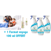 Solution de traitement anti acariens - gale - Pack 3 x 500 ml + 100 ml Offert