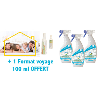 traitement punaises de lit pack 3 x 500 ml 100 ml voyage offert packs insectes sp cifiques. Black Bedroom Furniture Sets. Home Design Ideas