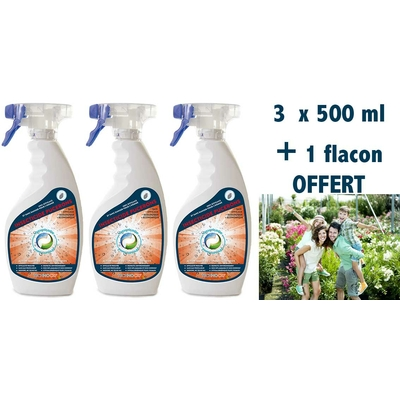 Solution anti pucerons - Pack 3 x 500 ml  + 1 format voyage 100 ml offert