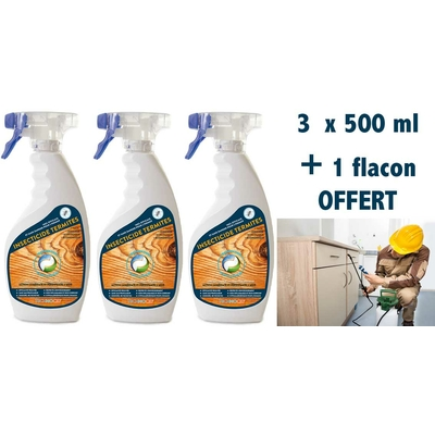 Solution anti termites Pack 3 x 500 ml  + 1 format voyage 100 ml offert