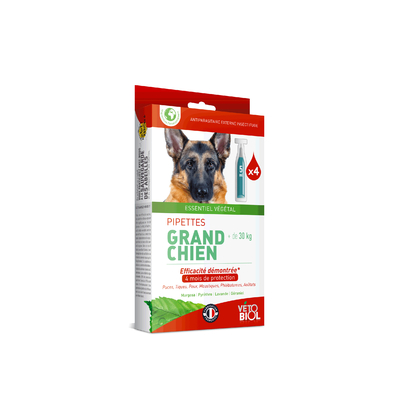 Pipettes antiparasitaire Grand Chien