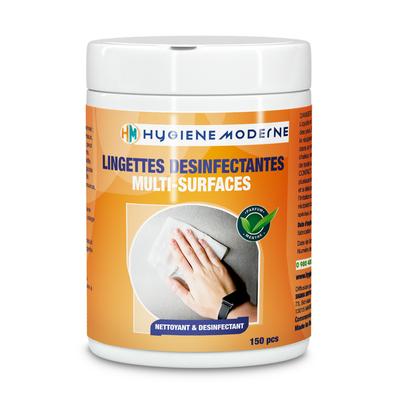 150 Lingettes nettoyantes désinfectantes de surfaces virucides