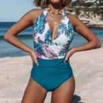 bromelia-maillot-de-bain-une-piece-bleu-imprime-feuilles-dos-nu