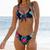 Palmeraie-maillot-de-bain-deux-pieces-imprimé-marine-fleurs-et-feuilles