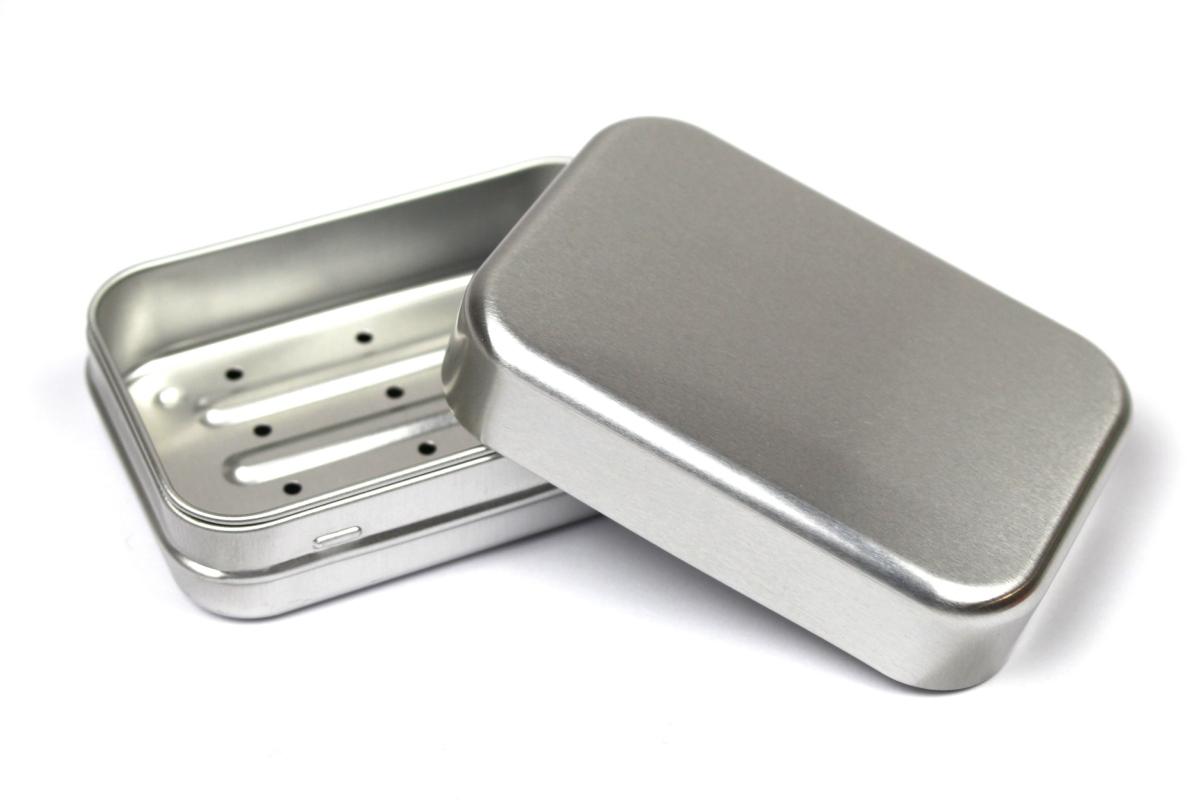 Boîte à savon en aluminium recyclable