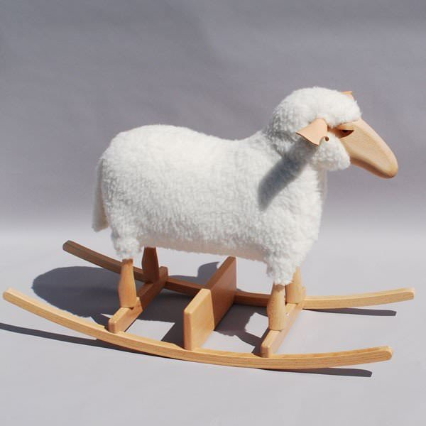 mouton bascule en peau lain e hanns peter krafft. Black Bedroom Furniture Sets. Home Design Ideas