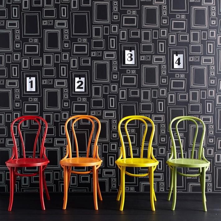 Papier peint Cadres noir - Frames Black - Déco/Stickers et ...