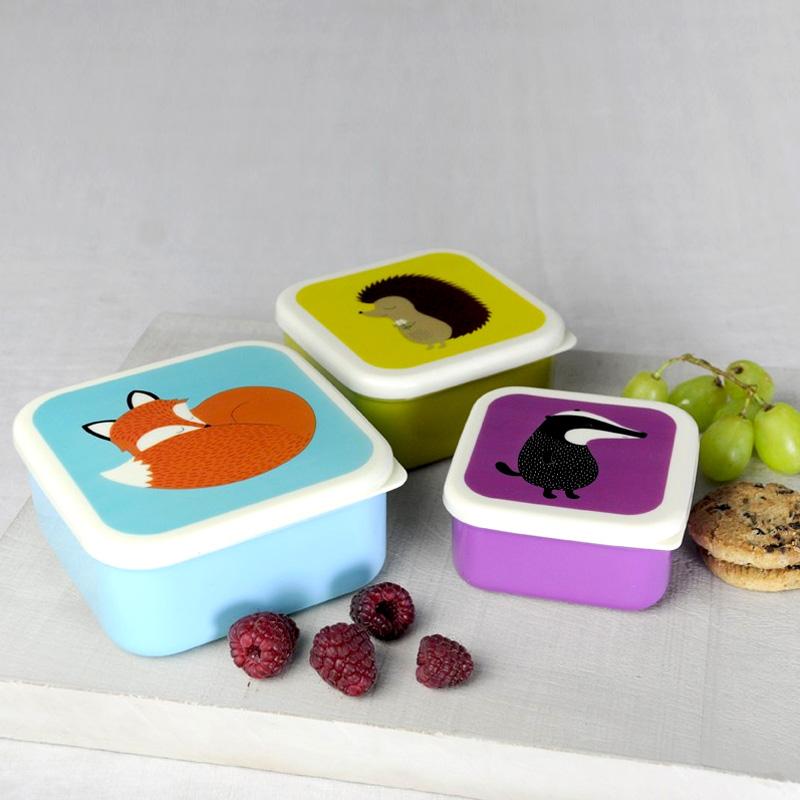 Lot de 3 boites gouter design for t enfants repas - Boite repas enfant ...