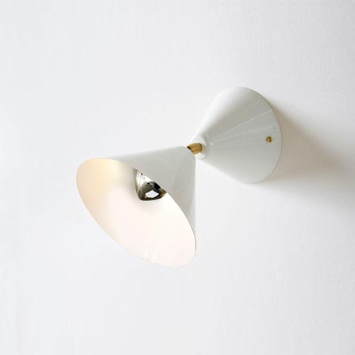 Applique Cône Blanc Intérieur Blanc Luminaireappliques Design