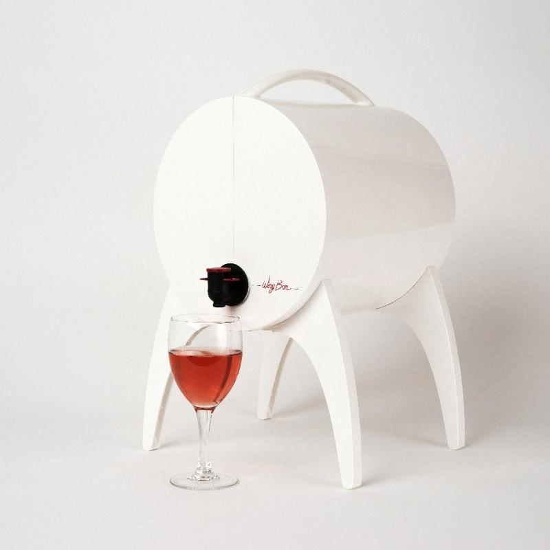 winy bar blanc fontaine de table pour vin en cubi et bag. Black Bedroom Furniture Sets. Home Design Ideas