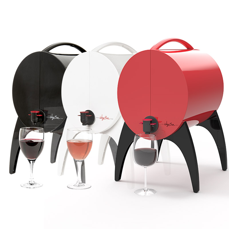 Winy bar rouge fontaine de table pour vin en cubi et bag in box 3 litres art de la table - Idee cadeau 5 euros ...