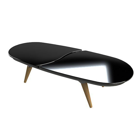 table basse modulable le 8 isidore noire meuble design from p. Black Bedroom Furniture Sets. Home Design Ideas
