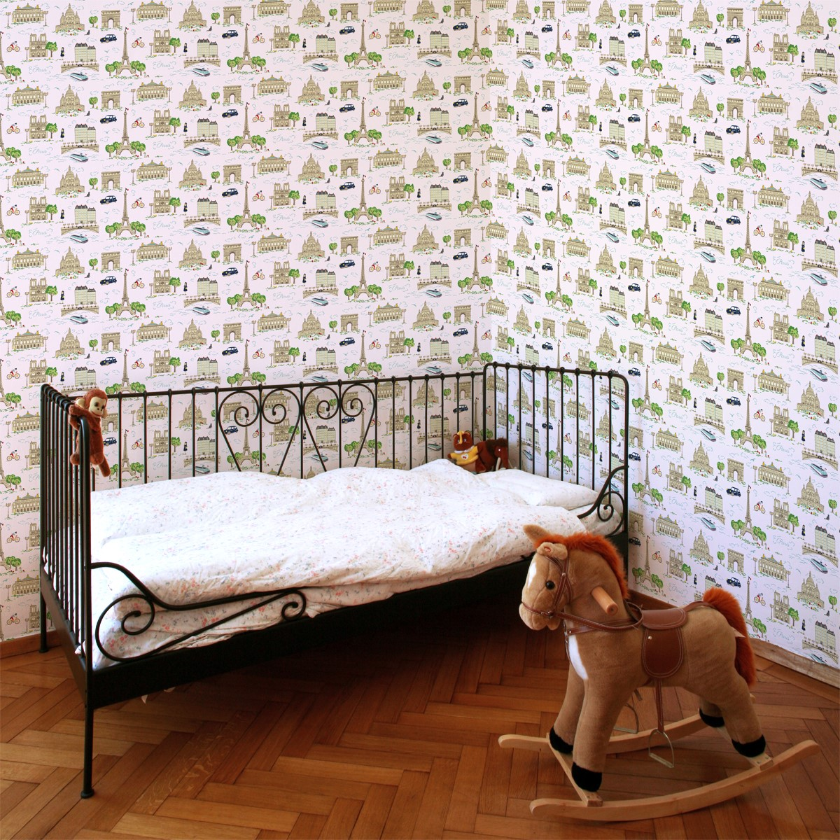 rouleau de papier peint 143191 toile de paris rose. Black Bedroom Furniture Sets. Home Design Ideas