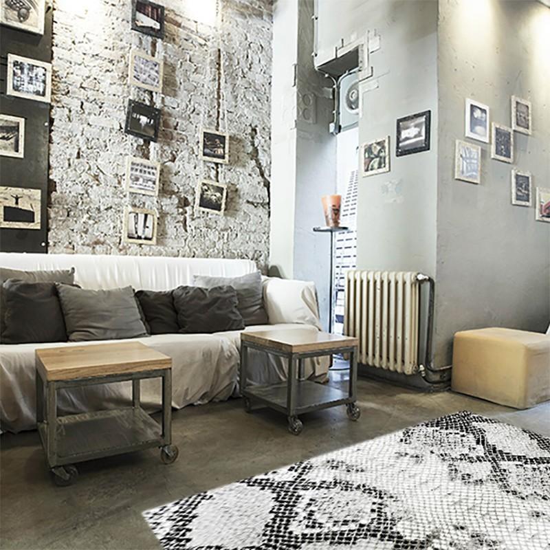 tapis vinyle peau de serpent mobilier design from paris. Black Bedroom Furniture Sets. Home Design Ideas