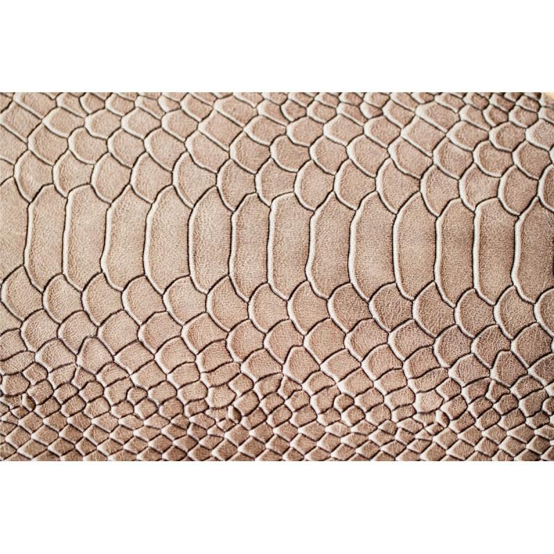 tapis vinyle peau de serpent marron design from paris. Black Bedroom Furniture Sets. Home Design Ideas