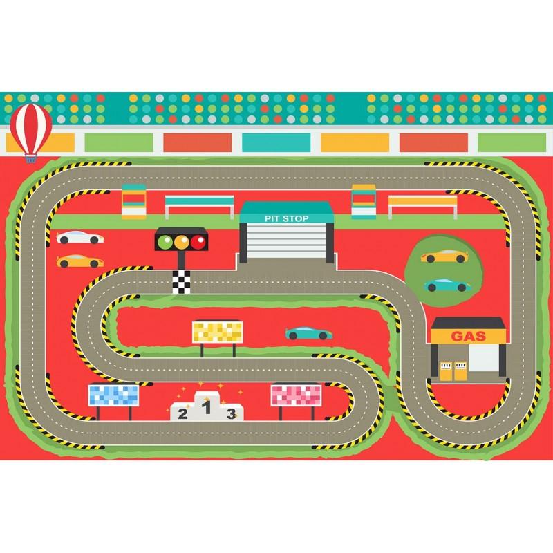 Tapis Vinyle Enfant Circuit Voiture Ferrari Design From Paris