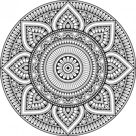 tapis vinyle mandala mexico tapis design design from