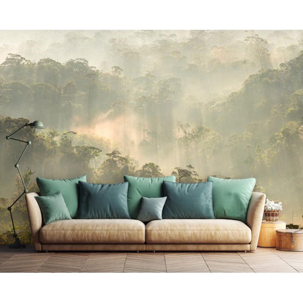 papier peint panoramique pdntdl1803018 misty forest. Black Bedroom Furniture Sets. Home Design Ideas