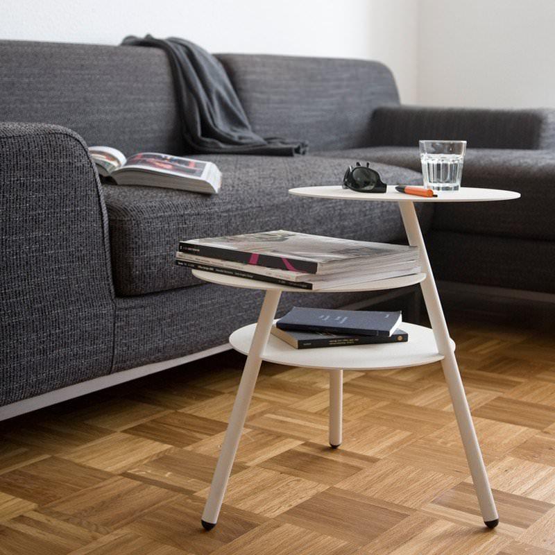 table basse d 39 appoint trio blanc. Black Bedroom Furniture Sets. Home Design Ideas