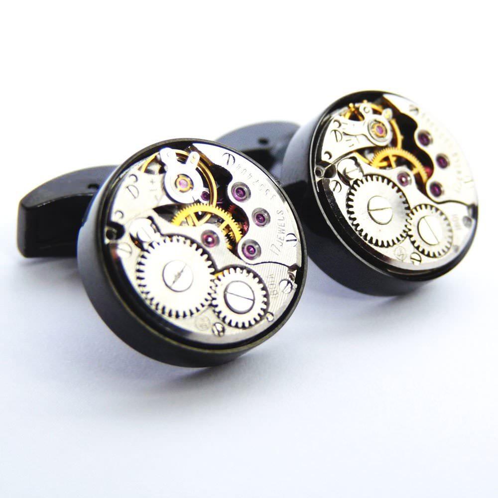 Boutons de manchette ex machina 17 black accessoires boutons de manchette - Bouton de meuble original ...