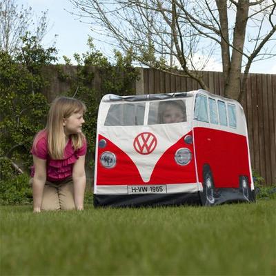 Tente-volkswagen-combi-vintage-rouge