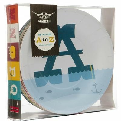 assiette alphabet carton