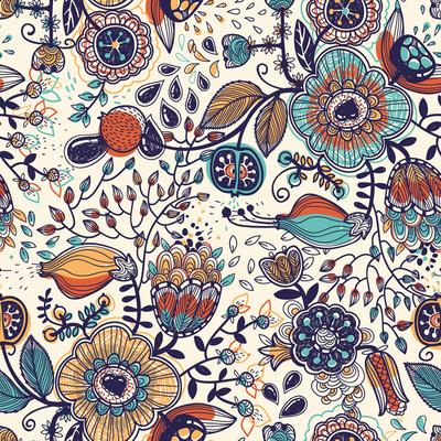 Le-de-papier-peint-fleurs-jungle