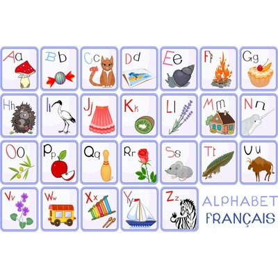 Tapis vinyle alphabet fr