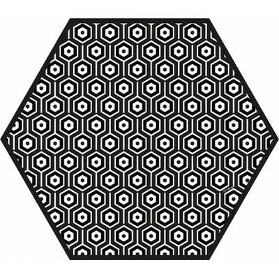 tapis-vinyle-hexagonal-andalouz-hexa-bw-1