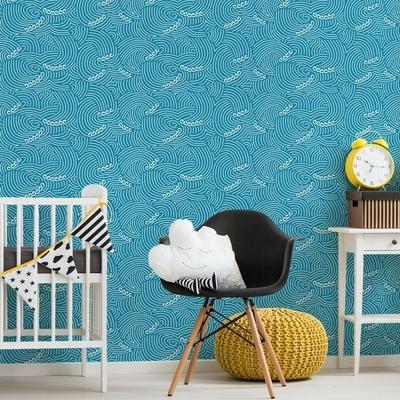 Rouleau de papier peint Waves bleu