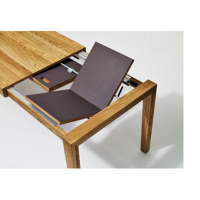 Table a manger Sixay MESA extensible bois chene avec linoleum