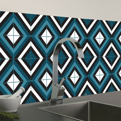 credence adhesive CRE0318 hd86 turquoise mise en situation