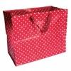 Jumbo sac Rétro rouge à pois blancs