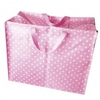 Jumbo sac Rétro rose à pois blancs