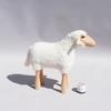 Petit agneau blanc - Tabouret enfant - Repose pied - Hanns Peter Krafft