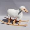 Mouton à bascule en peau lainée - Hanns Peter Krafft
