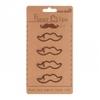 Trombone Moustache - Lot de 4