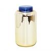 Grand vase bocal déco - Orange argenté et couvercle bleu