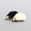 Mouton miniature déco Noir qui broute