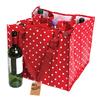 Grand sac bouteille Rétro rouge pois blanc