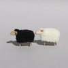 Mouton miniature déco Blanc Tête en l'air