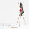 LOCK Porte manteaux sur pied Design - Rouge