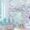 Papier peint panoramique - 8601 - Plan de métro Eclair